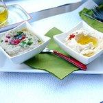 humus & caviar d'aubergine