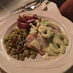 Grouper special with cucumber dill sauce