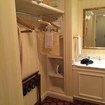 Dressing area, w/ safe, shelves and closet