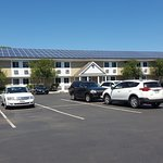 Large car park with solar panels!