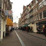 Street around the corner from hotel (5-min walk)