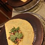 The making of our brunch crepes.  :)