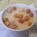 Mostsuppe mit Zimtcroutons