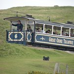 great orme tram near the top