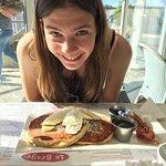 Breakfast at the Le Braye - fantastic