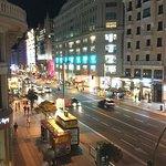 Vista desde la habitación del Tryp Gran Vía, Madrid