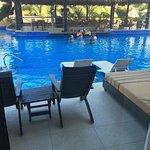 View from premium swim up room 110