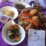 The delicious seafood platter that can be ordered throughout the resort...about $40 US