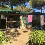 casa mobile, giardino e veranda