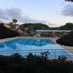 Vue du restaurant de la plage, du bar, de la piscine. Endroit idyllique.