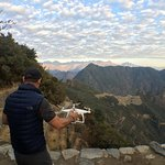 Launching the drone at the Sungate