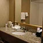 The large bathroom give you plenty of room to prepare for the day!