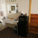 amenities included with room - fridge & microwave
