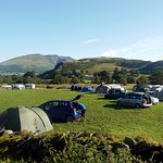 The campsite with views of beautiful Blencathra