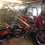garage avec sa mobylette