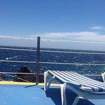 Sunbathing deck views