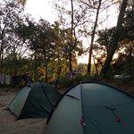 Sunrise at the campsite