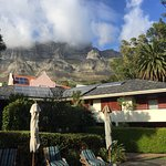 View of Table Mountain from yard/pool