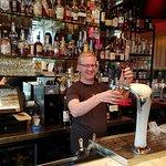 Bartender Joe, bar, and backroom