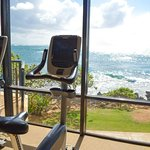 Gym with spectacular views.