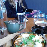 Baked Eggs and strong tea at Little Black Bird, Hastings