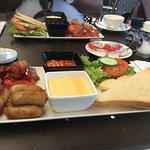 Full english breakfast in the Park Plaza Brasserie