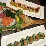 Yummy Maki, Janis Maki, & Sashimi Small platter were all delicious!