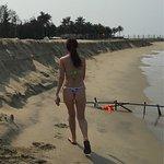 Hot girl in the beach