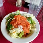 Salad with house carrot dressing. Very good