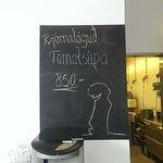 划算的蕃茄湯和免費的咖啡