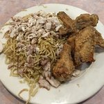 $7.99 lunch special: chicken chow mein & wings