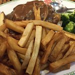 Hamburger Steak with Fries