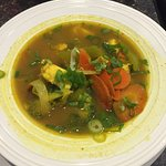 Curried Halibut Soup
