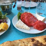 Tomatoes with Turkish cheese