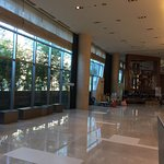 Lobby is at level 5, bright and spacious.