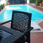 Swimming pool at backyard area