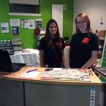 Reception staff at Edinburgh Euro Hostel