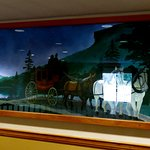 "A beautiful mural inside the Inn. And it depicts the ""Old Man of the Mountain"" in it."