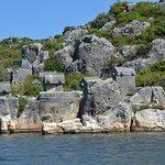Ликийские саркофаги - остров Кекова