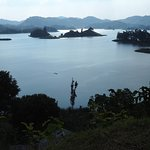 View of Lake Mutanda from Chameleon Hill.