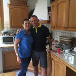 Anna and Steve Seddon in the Chalet Madeline kitchen