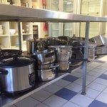 Some of the range of cooking facilities on offer for those who want to self cater.