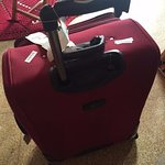 Suitcase handle broken by freehand team