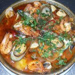 Cataplana the local seafood speciality