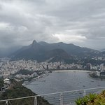 La vista hacia Botafogo con el Cristo de fondo