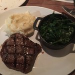 Flank Steak with Spinach and Garlic Mashed potatoes