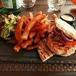 hamburger au saumon