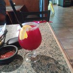 Good lunch horrible strawberry margarita. With out of town family.  Food decent. Beers are good.