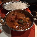 Shrimp curry and Rice