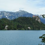 Bled Castle seen from the island